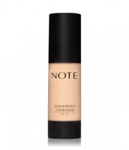 NOTE Detox & Protect SPF15 Flüssige Foundation Nr. 111 - Warm Beige (Pink Base)